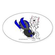 Snowmobile Cat Blue Decal