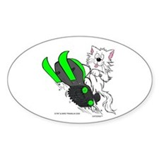 Snowmobile Cat Green Decal