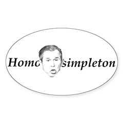 Homo simpleton Oval Decal