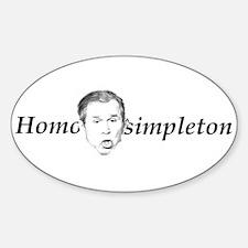 Homo simpleton Oval Decal