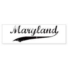 Vintage Maryland Bumper Bumper Sticker