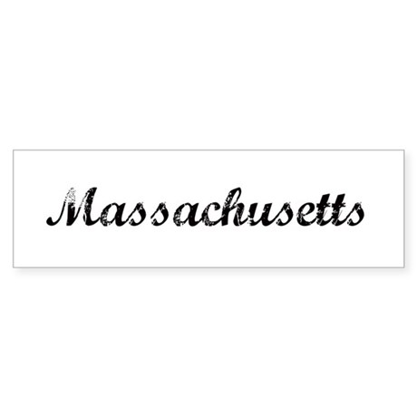 Vintage Massachusetts Bumper Sticker