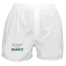 Marathoning is insanity Boxer Shorts