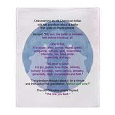 Wolf Wisdom Throw Blanket