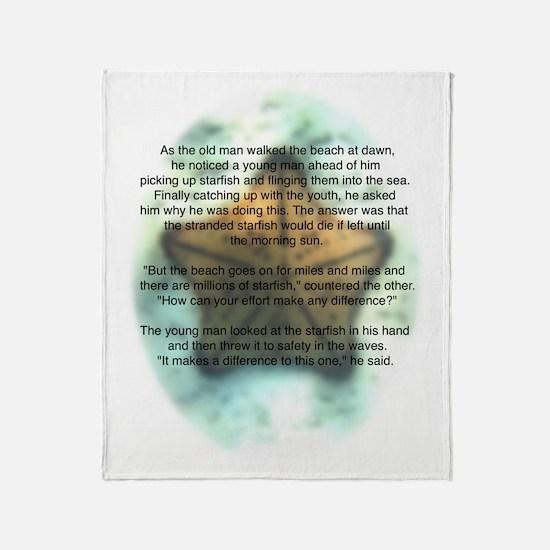 Starfish Wisdom Throw Blanket