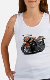 CBR 600 Orange-Black Bike Women's Tank Top