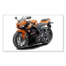 CBR 600 Orange-Black Bike Decal