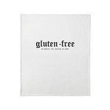 gluten-free, no wheat Throw Blanket