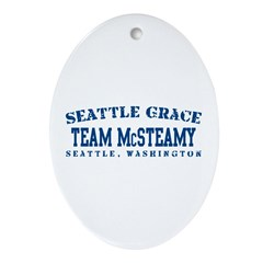 Team McSteamy - Seattle Grace Ornament (Oval)