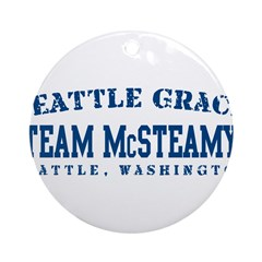 Team McSteamy - Seattle Grace Ornament (Round)