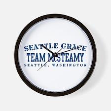 Team McSteamy - Seattle Grace Wall Clock