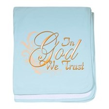 In God We Trust baby blanket