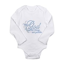With God All Things are Possi Long Sleeve Infant B