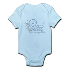 With God All Things are Possi Infant Bodysuit