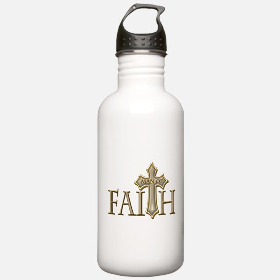 Man of Faith Water Bottle