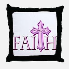 Woman of Faith Throw Pillow