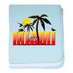 Miami baby blanket