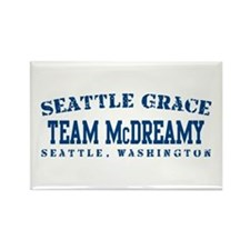 Team McDreamy - Seattle Grace Rectangle Magnet
