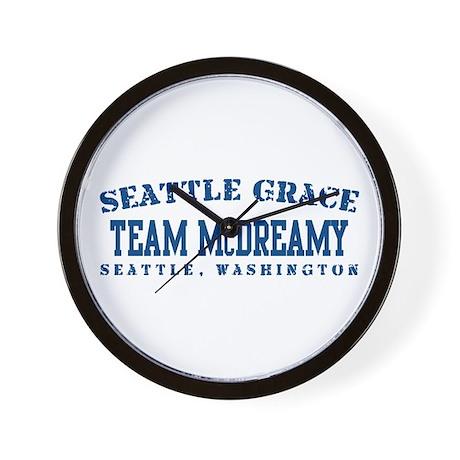 Team McDreamy - Seattle Grace Wall Clock