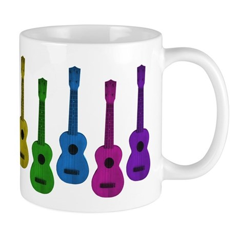 Ukulele Rainbow Mug