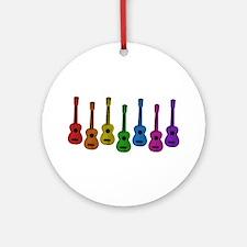 Ukulele Rainbow Ornament (Round)