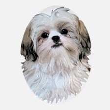 Shih Tzu Lover Ornament (Oval)