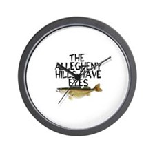 Hills Have Walleyes Wall Clock