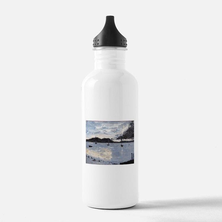 Cute Puerto rico beach Water Bottle