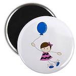 "Cute Balloon Girl 2.25"" Magnet (10 pack)"