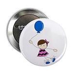 "Cute Balloon Girl 2.25"" Button (100 pack)"