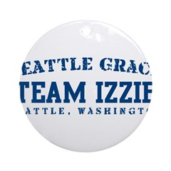 Team Izzie - Seattle Grace Ornament (Round)