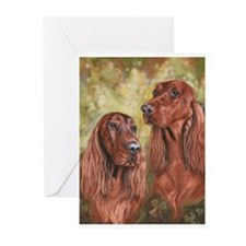 Irish Setter Greeting Cards (Pk of 20)
