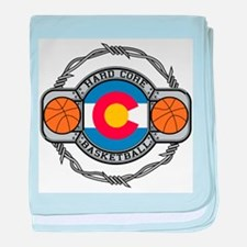 Colorado Basketball baby blanket