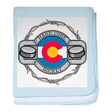Colorado Hockey baby blanket