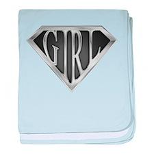 SuperGirl(Metal) baby blanket