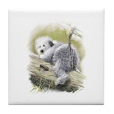 Cute Sheepie Tile Coaster