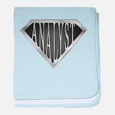 SuperAnalyst(metal) baby blanket