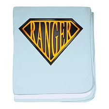 SuperRanger(blk/gld) baby blanket