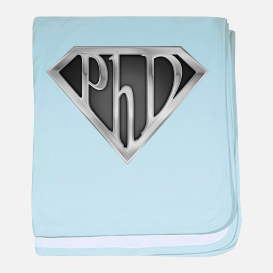 Super PhD - metal baby blanket