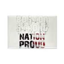 Boston Strong Nation Proud Rectangle Magnet
