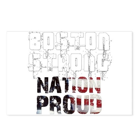 Boston Strong Nation Proud Postcards (Package of 8