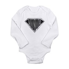 SuperMuslim(metal) Long Sleeve Infant Bodysuit
