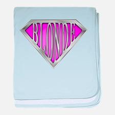 SuperBlonde(pink) baby blanket