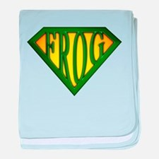 SuperFrog(Green) baby blanket