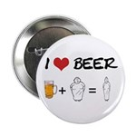 Beer + fat woman Button