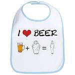 Beer + fat woman Bib