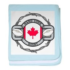 Canada Rugby baby blanket