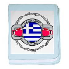 Greece Boxing baby blanket