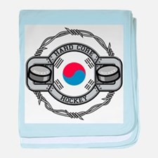 Korean Hockey baby blanket