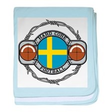 Sweden Football baby blanket